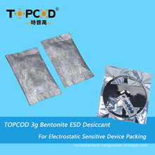 3G Montmorillonite ESD Clay Desiccant Pouch for PCB