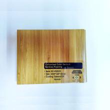 Revêtement de sol en bambou solide vertical carbonisé par UV de laque UV