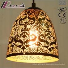 Ornamento oco da ornamentação do ouro da flor e do pendente redondo com hotel