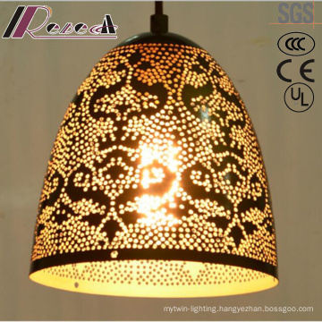 Flower Hollow Ornamentation Gold and Round Pendant Lighting with Hotel