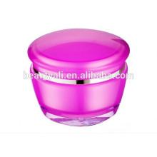 15g 30g 50g Cogumelo forma plástico acrílico creme cosméticos empacotar jar