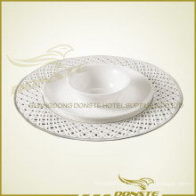 Placas de cerâmica coloridas Placa de platina Combinação de mesa