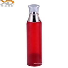 Good price red painting oval airless bottle acrylic plastic cosmetic custom made packaging