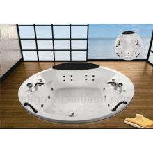 EAGO AM186JDTS round drop in Massage bathtub for two person