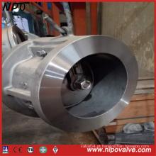 Válvula de retenção de chapa de aço maciço tipo Wafer