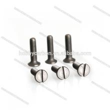 Alta qualidade peso leve parafusos de titânio hex torx parafusos cabeça chata M3x8mm