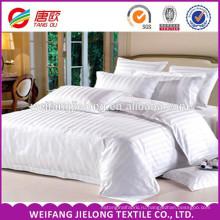 печатных горячая распродажа 100% белье сатин в полоску ткань / белый четыре наборы постельных принадлежностей выгодной цене постельное белье, 100% хлопок 40-х годов 250tc сатин
