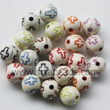 Top Selling 10mm Colorful Round Bubble Imitation Swarovski Beads