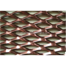 Expanded metal aluminum mesh curtain