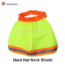 Safety Neck Shade Helmet Sun Shield With Reflective Strips,Neck Shield For Full Brim Hard Hats HI VIZ Orange Yellow