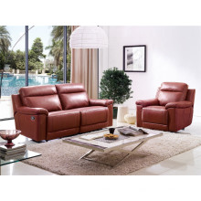 Sofá de sala de estar de couro genuíno (D907)