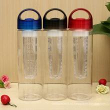 Botella de agua del infuser del tritan de 700ml, botella del infuser de la fruta del agua de tritan