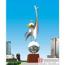 Handmade Decoration Stainless Steel Sculpture