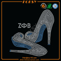 Zeta Phi Beta High Heel en strass sur les patchs