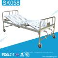 Lit d'hôpital réglable manuel d'acier inoxydable de SK058