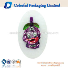 Wholesale liquid stand up pouch with spout for fruit juice
