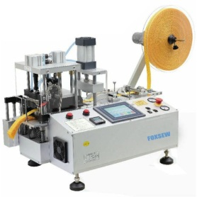 Автоматическая ленточно-отрезная машина с отверстием для перфорирования и устройством для сбора