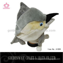 Dolphin plush winter hat with earflap foam animal hats
