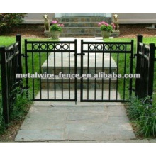 Powder sprayed safety iron fence gate