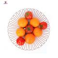 cesto de frutas de arame de aço inoxidável para sala de jantar