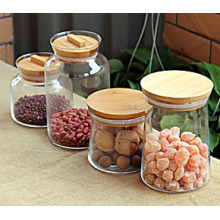 Hot Sell 200g 300g Round Glass Food Jar Glass Storage Bottles