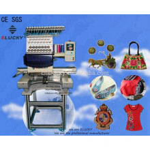 Elucky single head cap computerized embroidery machine price sewing machine for cap, t-shirt etc