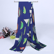 Lady Fashion Printed Satin Seide Magie Mutifuntional Cravat Schal (YKY1091-11)