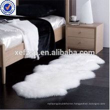 Long pile microfiber faux synthetic fur area rug