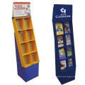 Cardboard Compartment Stand for Books Display, Free Standing Corrugated Bookcase