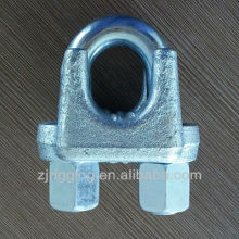 GB type 8mm malleable fasteners elec galv wire cable rope clips rigging manufacturer