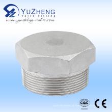 Hex de alta pressão de aço inoxidável. Plug Plug