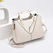 2021 New High Quality PU Leather Shoulder Bags Luxury Brands Handbags Women′ S Tote Bag with Metal Handle