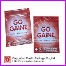 Aluminium Foil Plastic Bag with Ziplock for Herbal Spice Smoke Packaging
