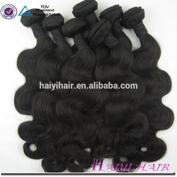 Weave não processado do cabelo das extensões do cabelo do Virgin das extremidades grossas