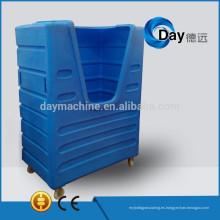 Carretilla de servicio pesado de plástico HM-3 PE, mejor carretilla de lavandería de ropa, carro de lavado de STOCK