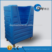 HM-3 PE plastic heavy duty trolley cage, best sale linen trolley cage, STOCK laundry cart