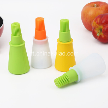 Com Oil Holder Dispenser Silicone Brush Basting Tool