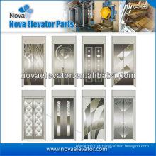 Painel de porta de elevador de aço inoxidável padrão, porta de cabine de elevador