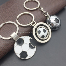 Football Shaped Metal Keychain with Bottle Opener