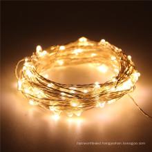 33FT 10M 100LED 5M 50LED 5V USB LED String Silver Copper Wire String Lights Indoor Outdoor wedding decoration