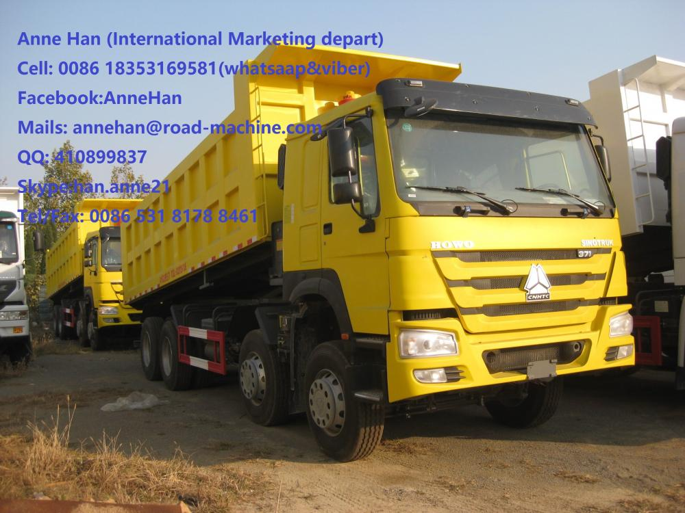 شاحنة قلابة SINOTRUK HOWO 371HP 12 Wheels LHD