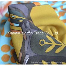 Tissu de crêpe de crêpe de polyester de 100% pour la robe / rideau