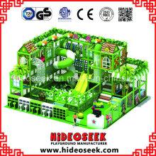 Tree House Theme Children Soft Play Equipment with Big Tube Slide
