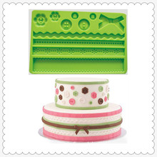 Rectangle Flower Lace Cake Decorating Silicon Mold