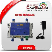 Fornecedor Profissional Alto Desempenho CATV FTTH Receptor Bi-direcional Da Fibra Óptica Rfog Mini Node