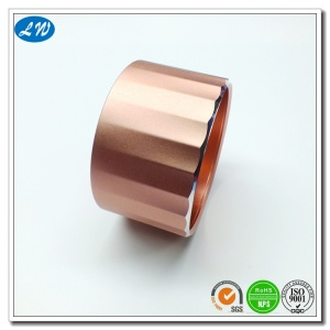 Decorated colorful anodized rotating aluminum knob