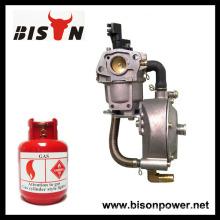 BISON (CHINA) 190F Carburateur à double carburant avec auto choke LPG NG Kit de conversion de propane pour générateur d'essence Hybrid 6KW 6000W