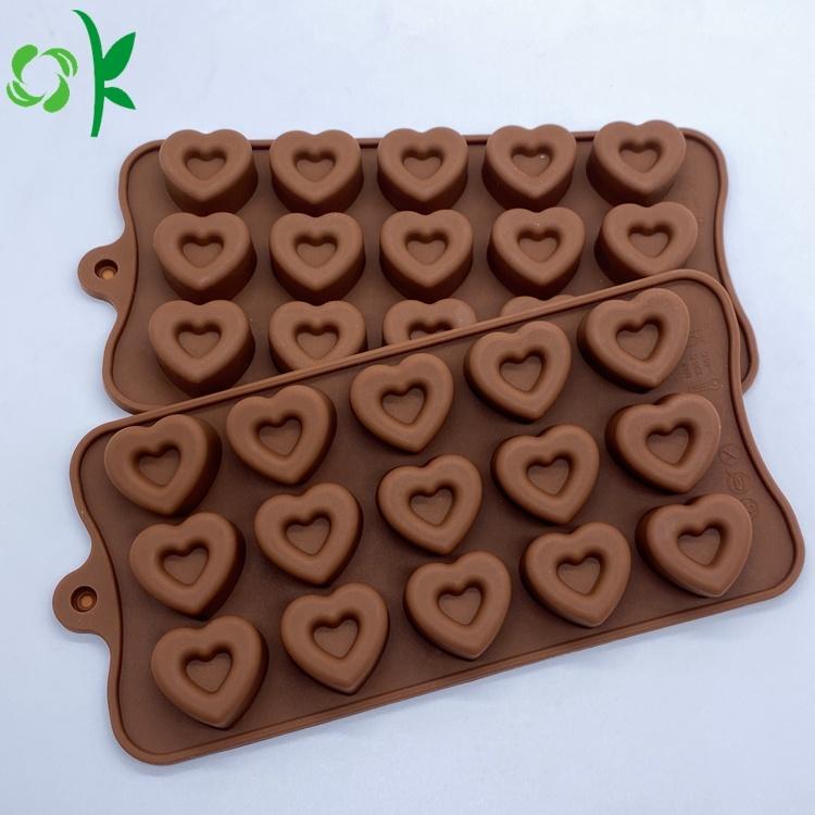 Custom Heart Shape Silicone Chocolate Soap Molds