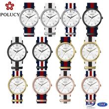 Moda Multi cor Watch Strap de Nylon para senhora