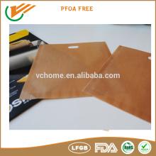 Bridge eco-friendly FDA, LFGB, SGS certificate ptfe coated 6.5X6.3 baking sandwish bag